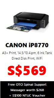 Canon PIXMA Colour Printer iP8770 (A3 Wireless)