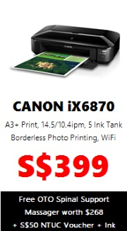 Canon PIXMA Colour Printer iX6870 (A3 Wireless)