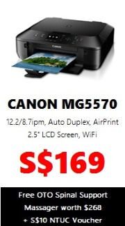 Canon PIXMA Colour Printer MG5570 (AIO Wireless)
