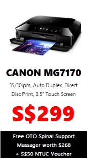 Canon PIXMA Colour Printer MG7170 (AIO Wireless)