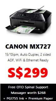 Canon PIXMA Colour Printer MX727 (AIO Wireless)
