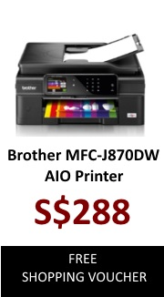 Brother Colour InkJet Printer MFC-J870DW (AIO Wireless)